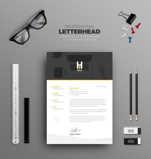 Asclepius Professional Corporate Letterhead Template