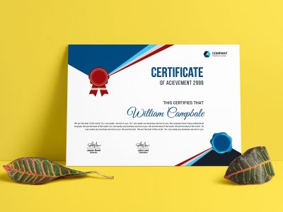 School Certificate Template